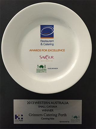 Grinners Catering Award 2013